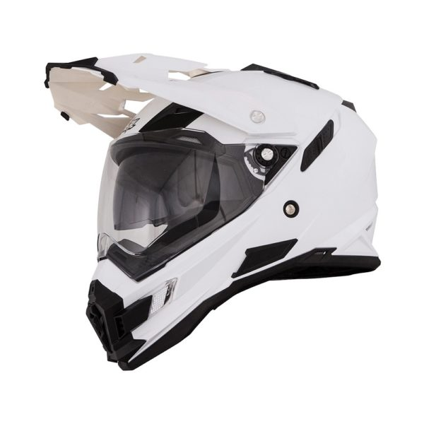 Кроссовый шлем SIERRA ADVENTURE PLAIN белый фото 3