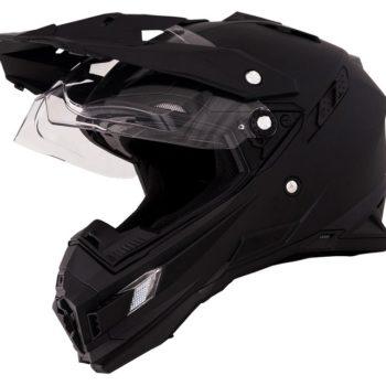 Кроссовый шлем SIERRA ADVENTURE PLAIN чёрный фото 1