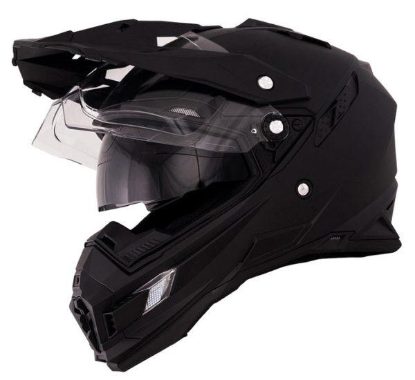 Кроссовый шлем SIERRA ADVENTURE PLAIN чёрный фото 2