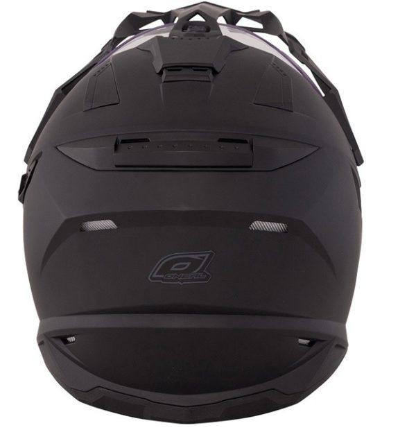Кроссовый шлем SIERRA ADVENTURE PLAIN чёрный фото 3