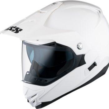 Кроссовый шлем со стеклом  HX207 белый фото 1
