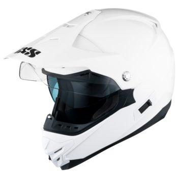 Кроссовый шлем со стеклом  HX207 белый фото 2
