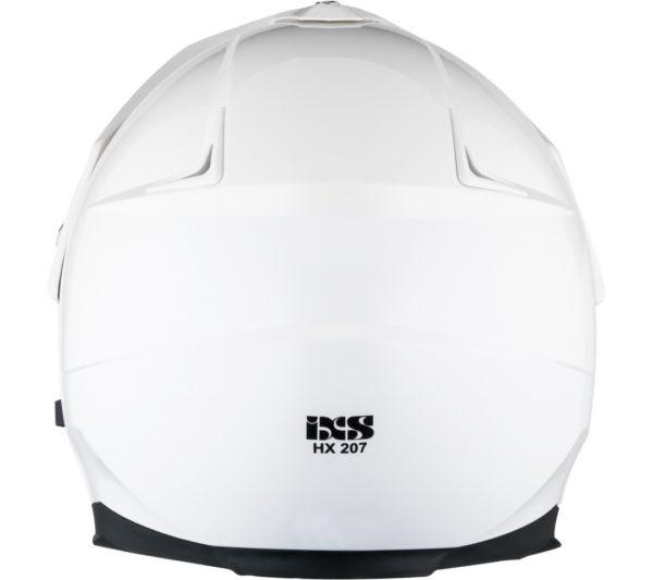 Кроссовый шлем со стеклом  HX207 белый фото 4