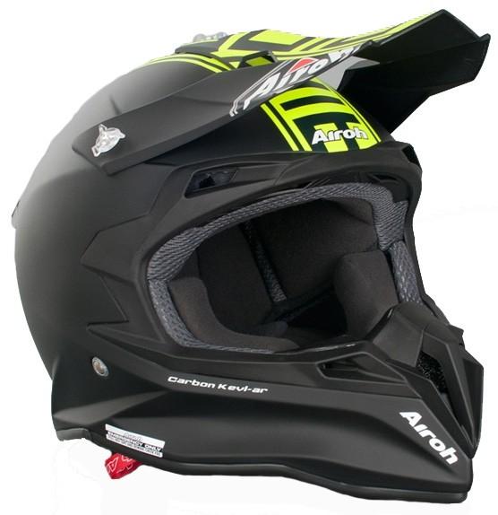 Кроссовый шлем TERMINATOR2.1 COM зелёный фото 3