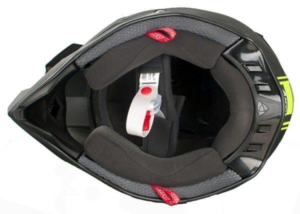 Кроссовый шлем TERMINATOR2.1 COM зелёный фото 4