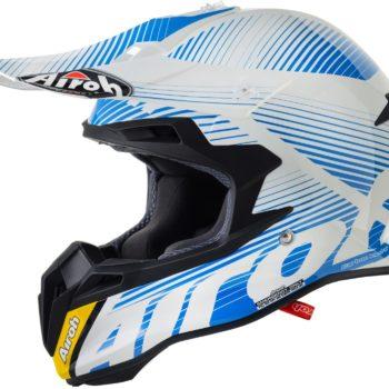Кроссовый шлем TERMINATOR2.1 LEVELS голубой фото 1