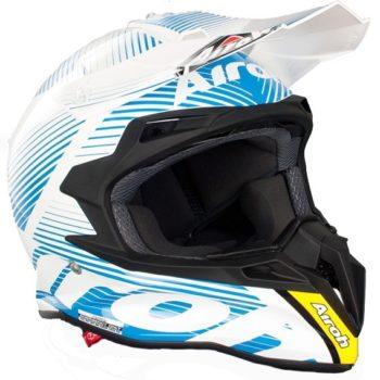 Кроссовый шлем TERMINATOR2.1 LEVELS голубой фото 2