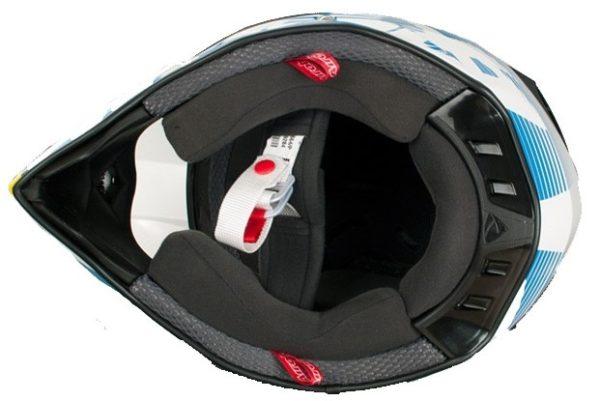 Кроссовый шлем TERMINATOR2.1 LEVELS голубой фото 4