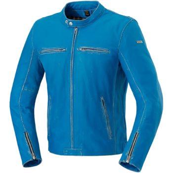 Куртка кожаная  SONDRIO синяя фото 1