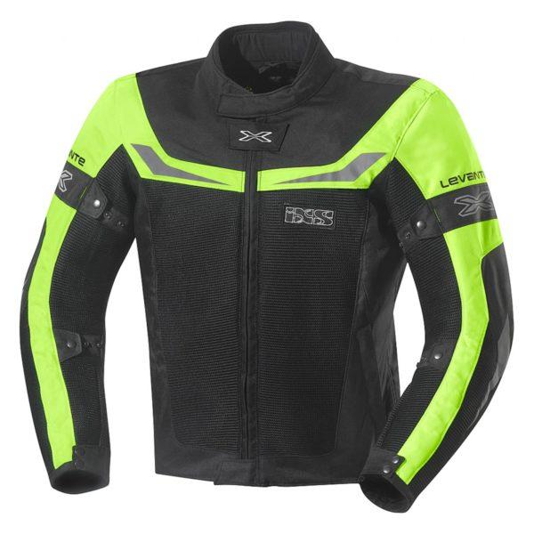 Куртка текстильная Levante чёрная/флуоресцентно-желтая фото 1