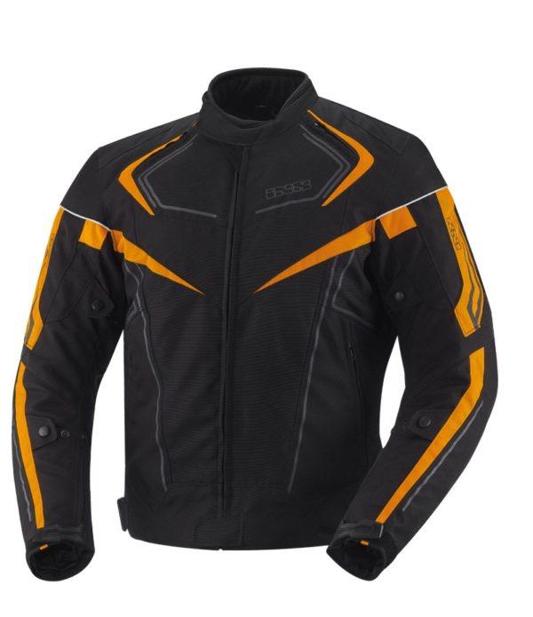 Куртка текстильная RODGER чёрно-оранжевая фото 1