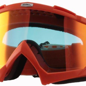 Маска кроссовая B-Flex LAUNCH Radium оранжевая фото 1