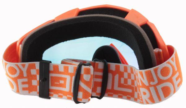 Маска кроссовая B-Flex LAUNCH Radium оранжевая фото 2