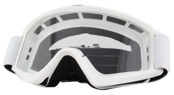 Маска кроссовая B-Zero Goggle белая фото 1