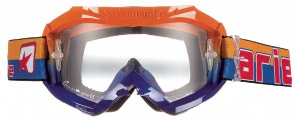 Маска кроссовая COLORS синяя/оранжевая фото 1
