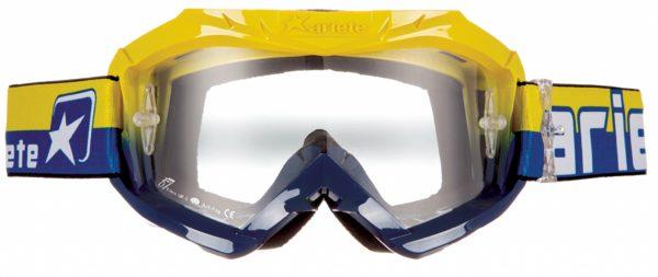 Маска кроссовая COLORS синяя/желтая фото 1