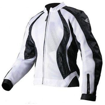 Мотоциклетная текстильная женская куртка XENA белая фото 1