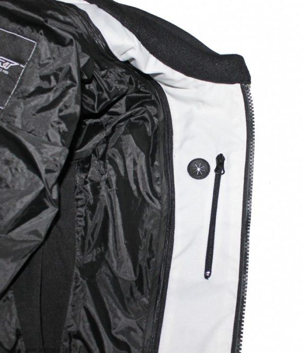 Мотоциклетная текстильная женская куртка XENA белая фото 2