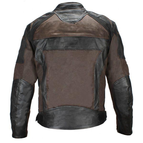 Мотокуртка кожаная Compass черно-коричневая фото 2