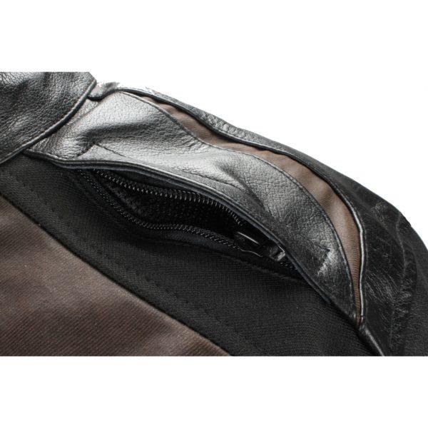 Мотокуртка кожаная Compass черно-коричневая фото 3