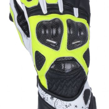 Мотоперчатки кожаные EVOLUTION черн/жел/бел фото 2