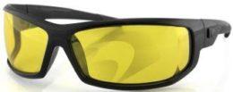 Очки AXL чёрные с жёлтыми линзами ANTIFOG фото 1