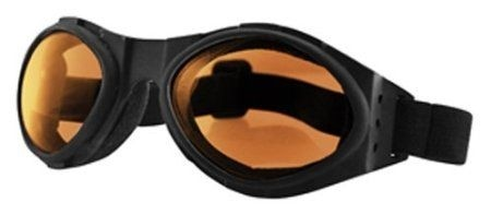 Очки Bugeye чёрные с янтарными линзами фото 1
