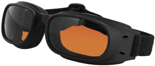 Очки Piston чёрные с янтарными линзами фото 1
