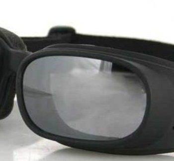 Очки Piston чёрные с зеркальными линзами фото 1