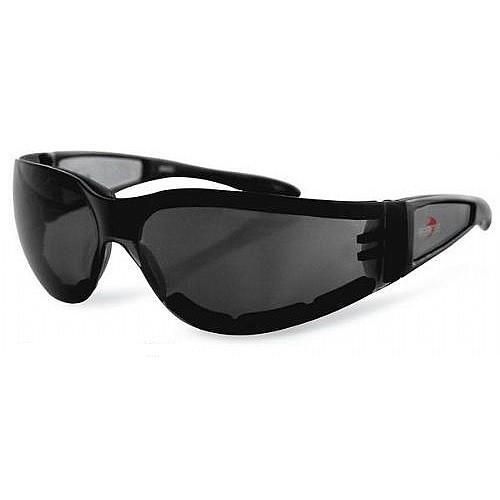 Очки Shield II чёрные с дымчатыми линзами фото 1