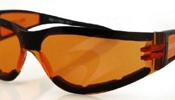 Очки Shield II чёрные с янтарными линзами фото 1