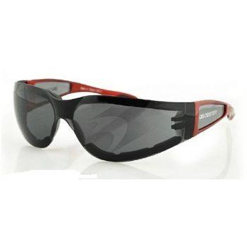 Очки Shield II красные с дымчатыми линзами фото 1