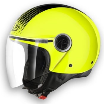 Открытый шлем MALIBU TOUCH жёлтый неон фото 1