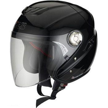 Открытый шлем с большим стеклом HX91 чёрный фото 1