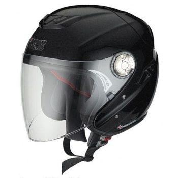 Открытый шлем с большим стеклом HX91 чёрный матовый фото 1