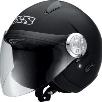 Открытый шлем со стеклом HX 137 черный мат фото 1