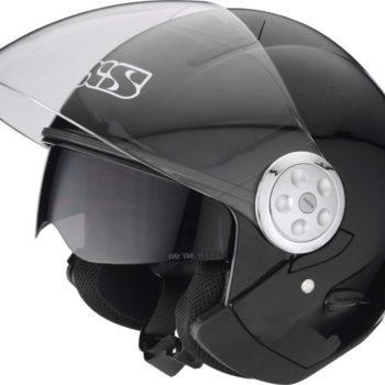 Открытый шлем со стеклом HX 137 черный мат фото 2