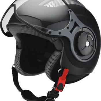Открытый шлем со стеклом HX 86 черный мат фото 1