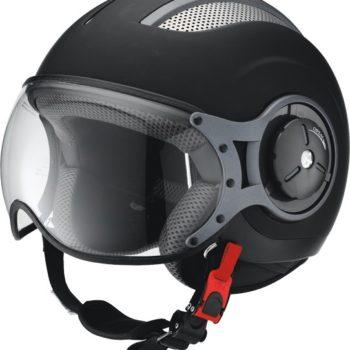Открытый шлем со стеклом HX 86 черный мат фото 2