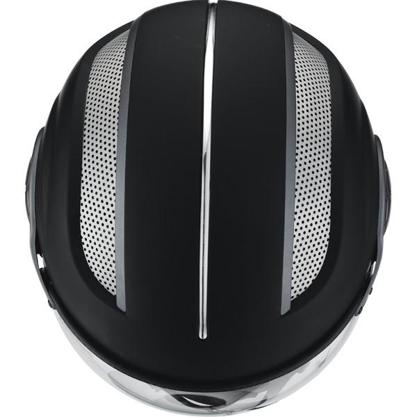 Открытый шлем со стеклом HX 86 черный мат фото 3