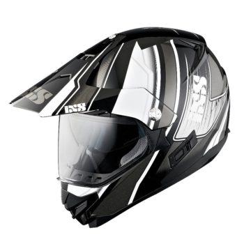 Шлем HX207 ATLAS с визором чёрно-белый фото 1