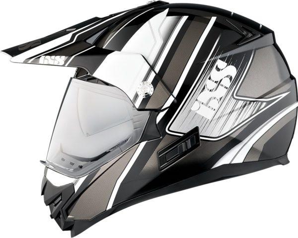 Шлем HX207 ATLAS с визором чёрно-белый фото 2