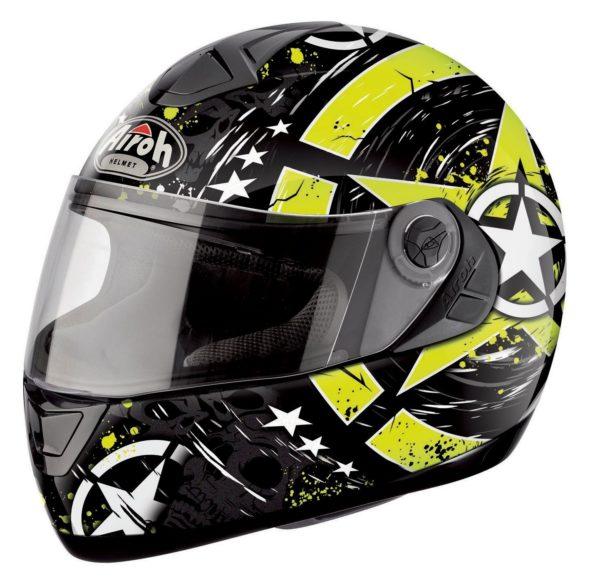 Шлем интеграл ASTER-X SKULL чёрно-желтый фото 1