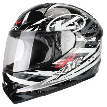 Шлем интеграл FFE1 Hazard graphic серый фото 1