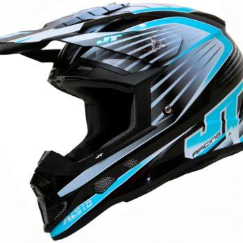 Шлем кроссовый  ALS1.0 черно-голубой фото 1