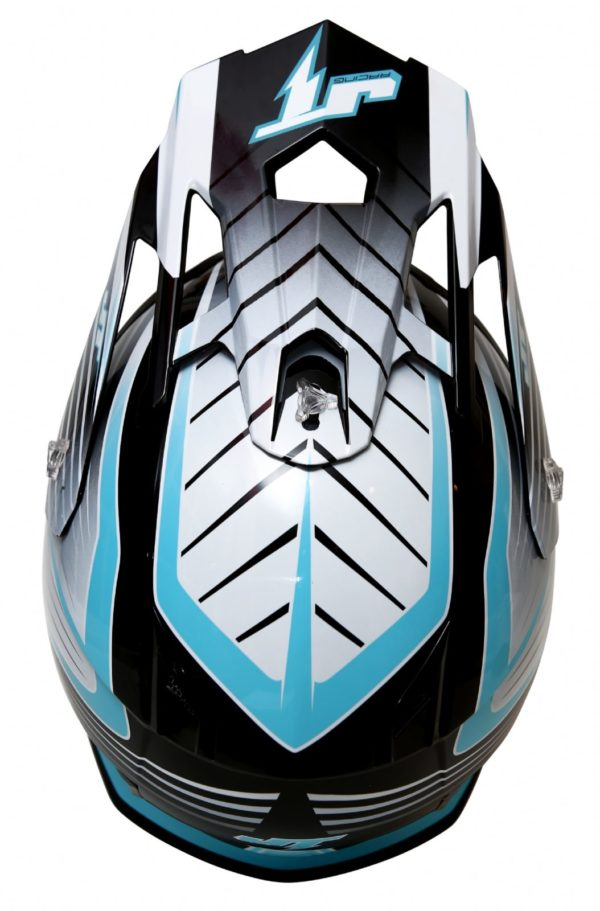 Шлем кроссовый  ALS1.0 черно-голубой фото 3