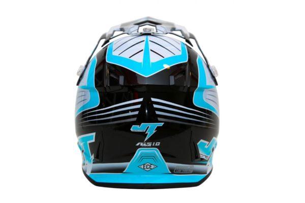 Шлем кроссовый  ALS1.0 черно-голубой фото 4