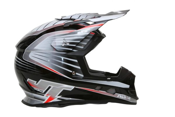 Шлем кроссовый  ALS1.0 черно-серый фото 2