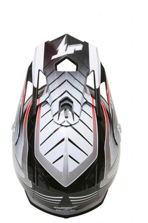 Шлем кроссовый  ALS1.0 черно-серый фото 3