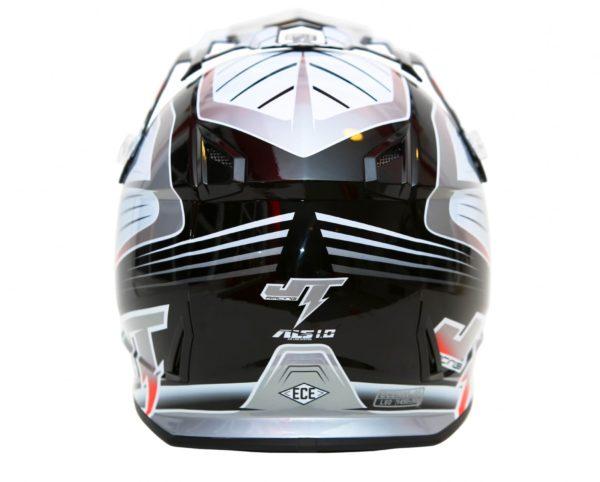 Шлем кроссовый  ALS1.0 черно-серый фото 4